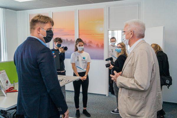 Ministerpräsident Winfried Kretschmann besucht das TZ